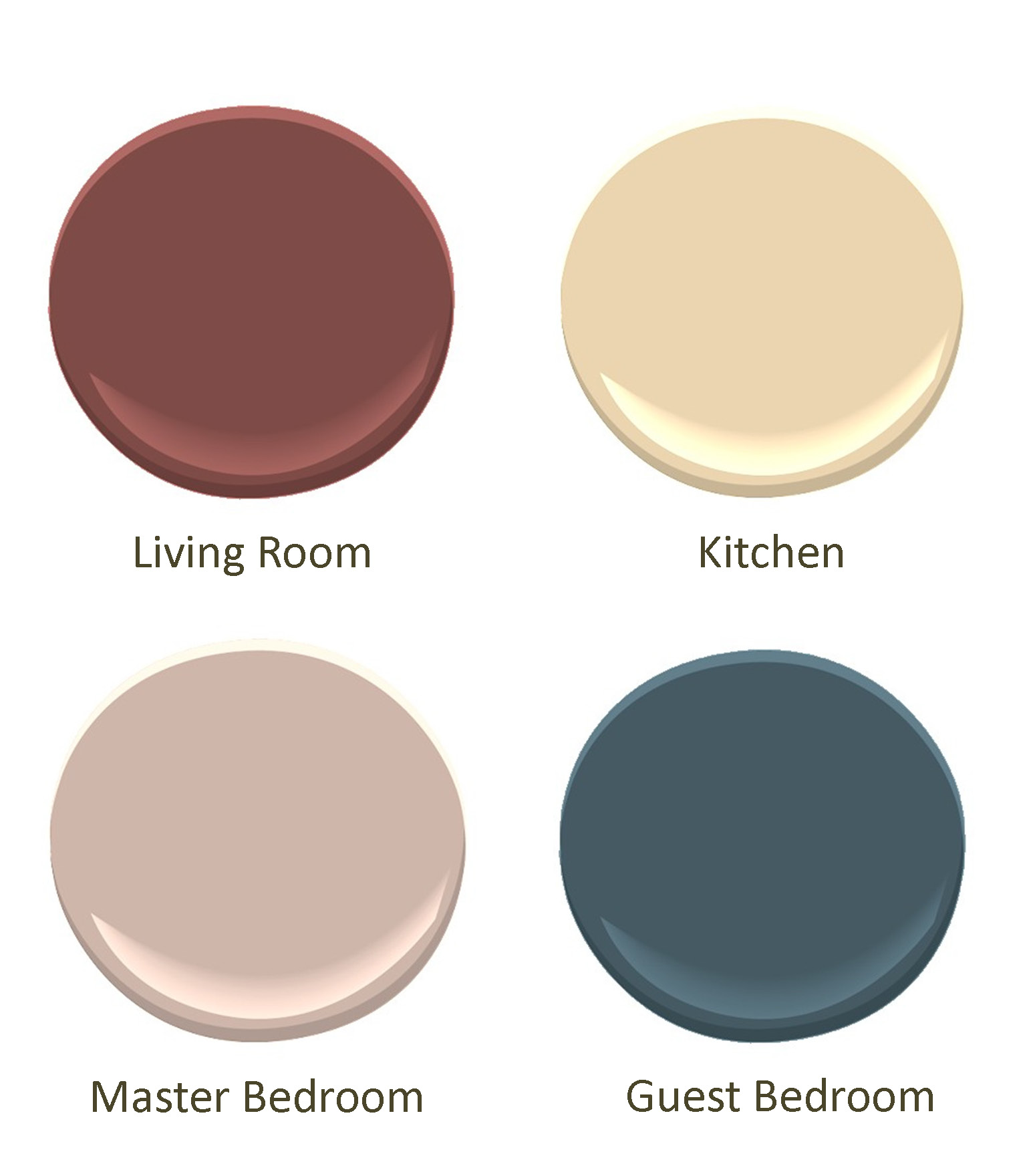 Paint salt pippa What colors go good together for a room